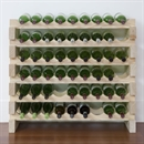 Modularack Wooden Wine Rack 54 Bottle - Natural Pine 6H x 9W