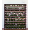 Modularack Wooden Wine Rack 120 Bottle - Dark Stain with Top 10H x 12W