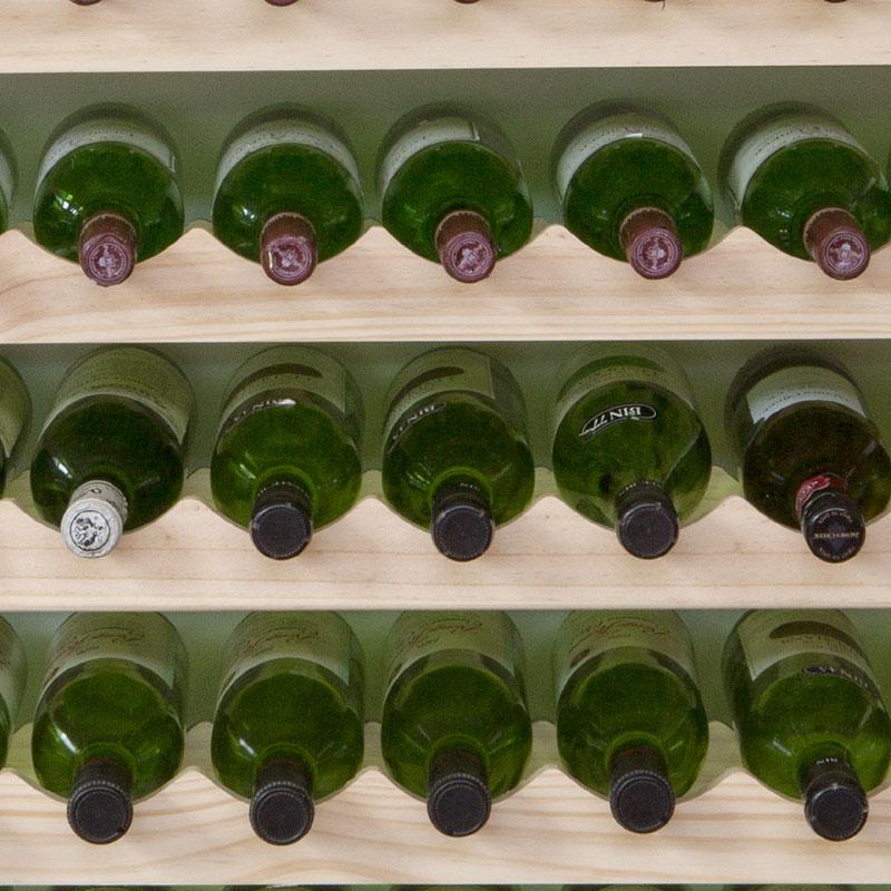 modularack wooden wine rack 22 bottle natural pine 2h x 11w - Wooden Wine Rack