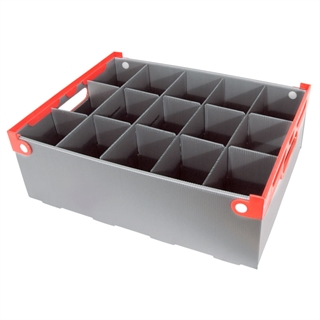 Wine Glass Storage Box - 15 Cell - 160mm High