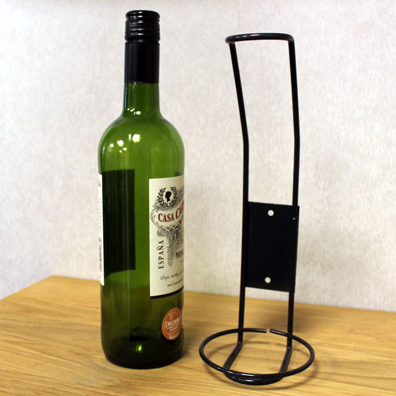 Single Bottle Display Wine Holder Rack Black Metal