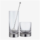 J A Campbell Silver-based Crystal Whisky Tumbler - Set of 2