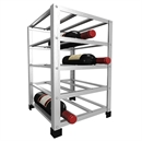 Big Metal Wine Rack Fully Assembled - 15 Bottle