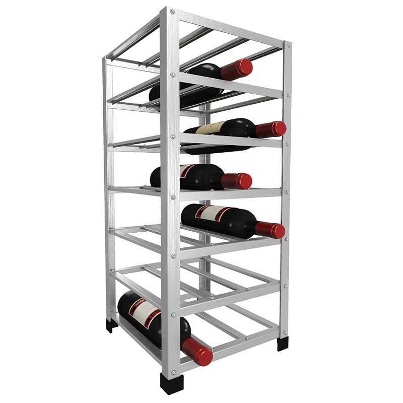 Big metal wine rack fully assembled bottle