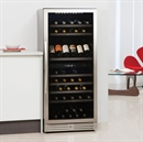 Caple Wine Cabinet - 2 Temperature Freestanding - Stainless Steel WF1104