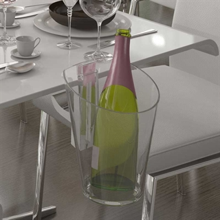 Tablo Table Mounted Wine & Champagne Cooler / Ice Bucket - Clear