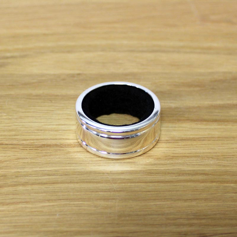 Plain Silver Plate Wine Bottle Drip Ring Decanting