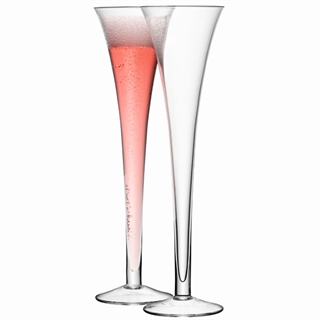 LSA International Bar Grand Hollow Champagne Glasses / Flutes - Set of 2