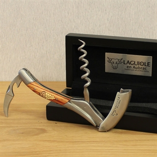 Laguiole En Aubrac Corkscrew Grape Marquetry Wooden Handle