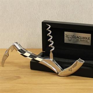 Laguiole En Aubrac Corkscrew Ebony / Ivory Wooden Handle