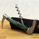 Chateau Laguiole Corkscrew Green Stamina Wood Handle