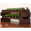 Modularack Wooden Wine Rack 12 Bottle - Dark Stain 2H x 6W