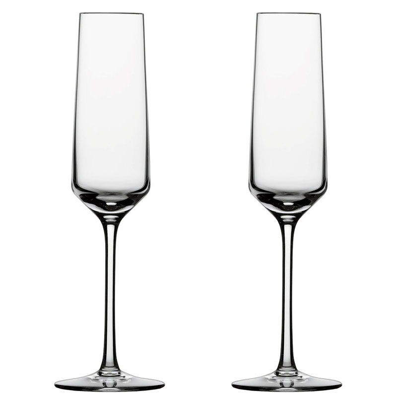 schott zwiesel pure champagne glasses flute set of 2. Black Bedroom Furniture Sets. Home Design Ideas