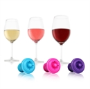 VacuVin Wine Saver Spare Bottle Stoppers - Purple / Blue / Pink - Set of 6