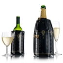 VacuVin Rapid Ice Wine & Champagne Cooler Sleeves - Black