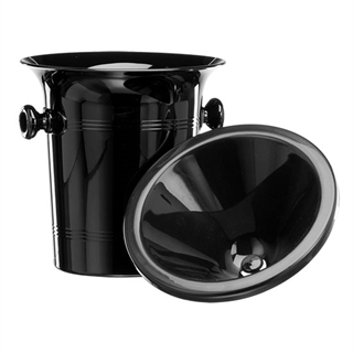 Standard Black Plastic Wine Spittoon 2L - Black Funnel