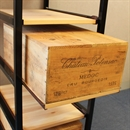 Wine Bottle Case Rack Metal & Wood - 6 Drawer