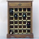 30 Bottle Oak Wooden Wine Cabinet / Rack with Plinth