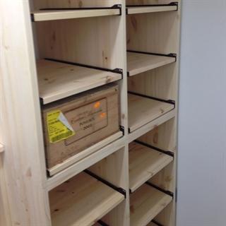 Wooden Wine Bottle Case Rack - 5 Drawer