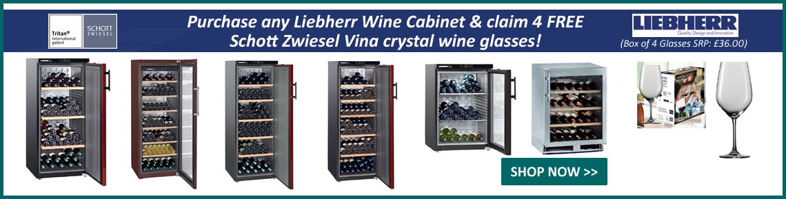 Purchase a Liebherr Cabinet and get FREE Glasses!