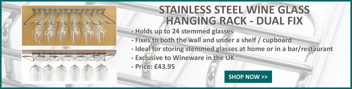Stainless Steel Wine Glass Hanging Rack!