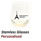 Personalised Stemless Wine Glasses