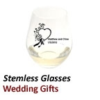 Stemless Wine Glasses as Wedding Favours