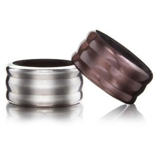 Vacu Vin Wine Bottle Drip Ring Collar / Stopper - Set of 2