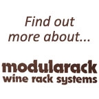 View more dark stain from our About The Modularack Wine Rack range
