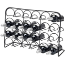 Hahn Pisa 24 Bottle Free Standing Wine Rack - Black