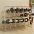 Hahn Pisa 24 Bottle Free Standing Wine Rack - Chrome