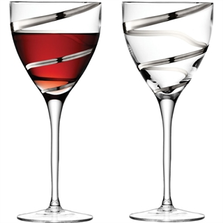 LSA Platinum Malika Grand Wine Goblets - Set of 2