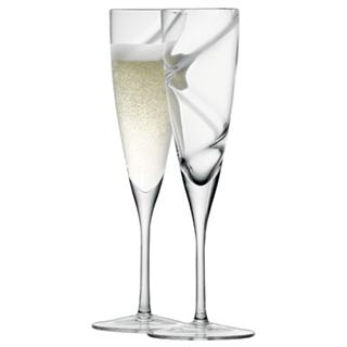 LSA Clear Malika Grand Champagne Flutes - Set of 2