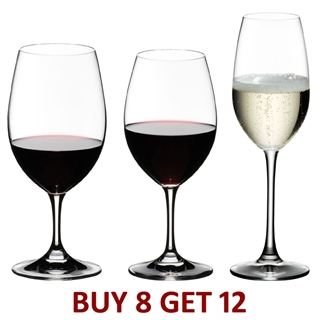 Riedel Ouverture 12 Piece Glass Set - Red, White & Champagne - Buy 8 Get 12