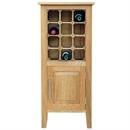 12 Bottle Contemporary Wooden Wine Cabinet / Rack with Legs