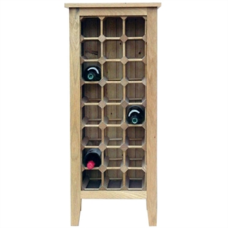 24 Bottle Contemporary Wooden Wine Cabinet / Rack with Legs