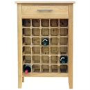 30 Bottle Contemporary Wooden Wine Cabinet / Rack with Legs