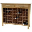 60 Bottle Contemporary Wooden Wine Cabinet / Rack with Legs