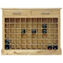 60 Bottle Contemporary Wooden Wine Cabinet / Rack with Plinth