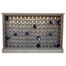 112 Bottle Contemporary Wooden Oak Wine Cabinet / Rack with Plinth