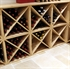 Pine Wooden Wine Rack - Cellar Cube - 24 Bottles - 298mm Deep