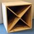 Pine Wooden Wine Rack - Double Depth Cellar Cube - 48 Bottles - 550mm Deep
