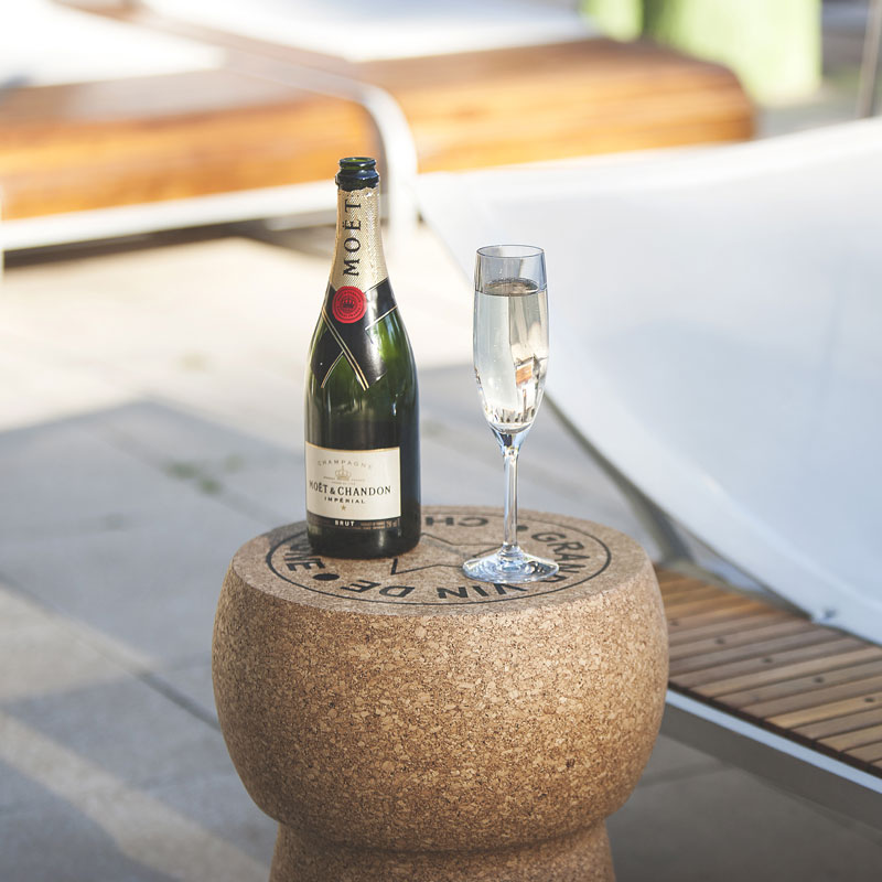 Xl Giant Champagne Cork Side Table Grand Vin De