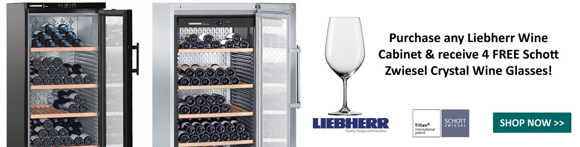 Purchase a Liebherr Cabinet & get 4 FREE Glasses!
