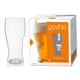Govino Premium Plastic Beer Glass - Set of 4