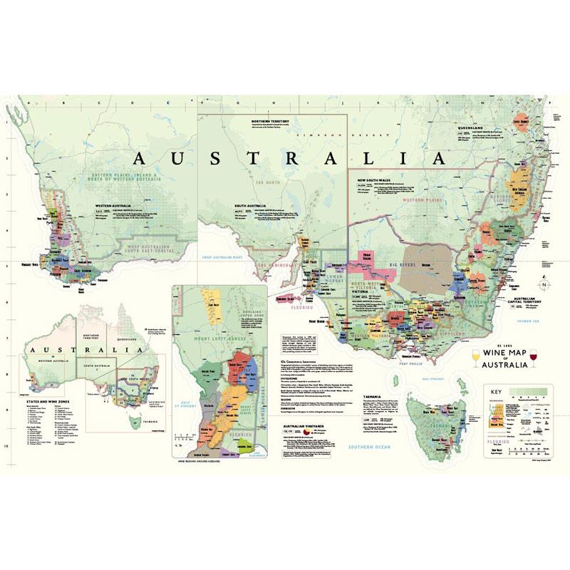 Regions Of Australia Map.De Long S Wine Map Of Australia Wine Regions