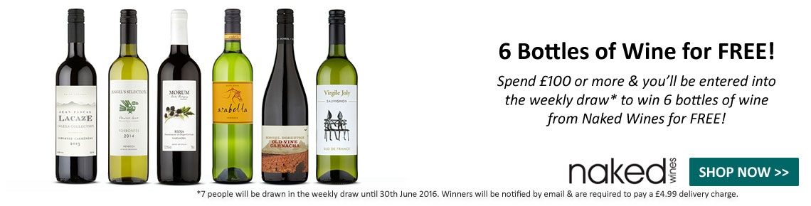 Win 6 Wines for FREE when you spend £100 or more!