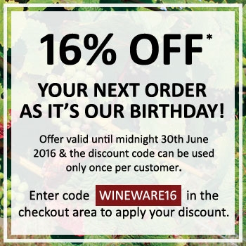 16% OFF as it's our Birthday!