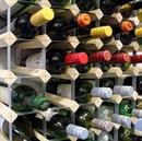 Fully Assembled Wooden Wine Rack - Natural Pine & Galvanised Steel 56 Bottle