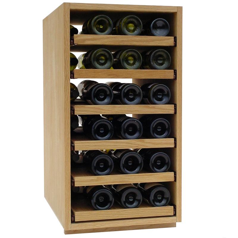 36 bottle showcase pull out wooden wine rack - Wooden Wine Rack